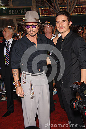 Johnny Depp,Orlando Bloom Editorial Photography