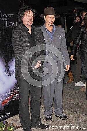 Johnny Depp, Tim Burton Editorial Stock Photo