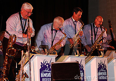 Johnny Knorr Orchestra saxophones and clarinet Editorial Photo