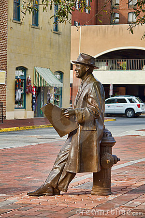 Johnny Mercer Statue Editorial Image