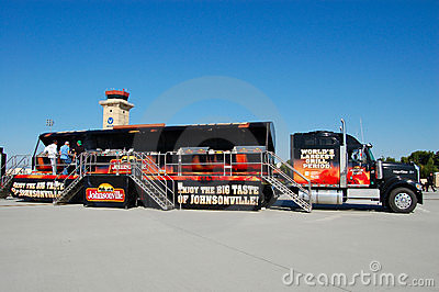 Johnsonville Grilling truck Editorial Stock Image