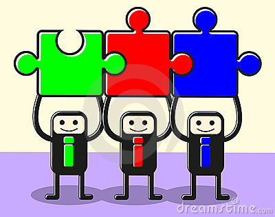 Join puzzle teamwork