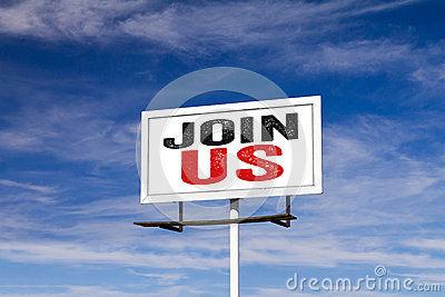 Join Us Message on Billboard