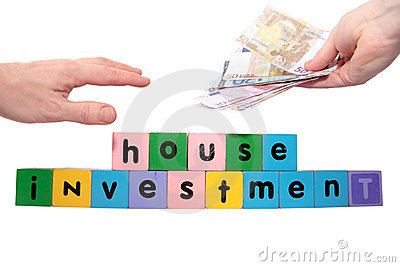 Joint house investment in toy block letters