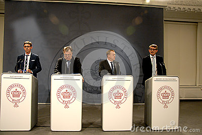 JOINT PRESS CONFERENCE _BEDRE BALANCE Editorial Stock Photo