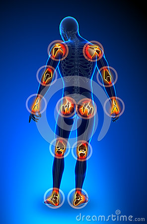 Free Joints Pain - Full Figure Stock Images - 30058004