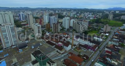 Joinville stad, delstaten Santa Catarina i Brasilien arkivfilmer