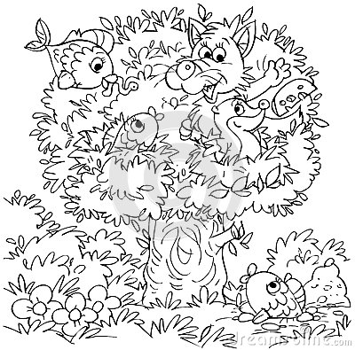 Joke tree with animals