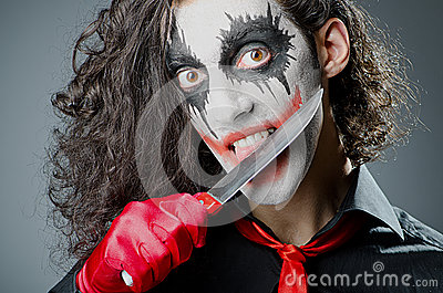 Joker with face mask