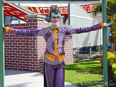 The Joker figure in Theme Park Editorial Photography