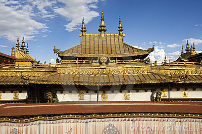 Jokhang Monastery In Lhasa In Tibet Royalty Free Stock Photography - Image: 17245467
