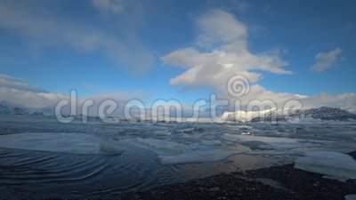 Jokulsalron ijzig meer in februari stock videobeelden