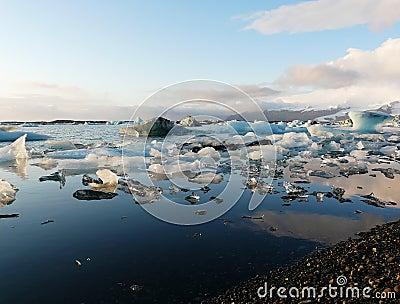 Jokulsarlon, glacier lagoon in Iceland