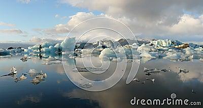 Jokulsarlon, glacier lake, panorama