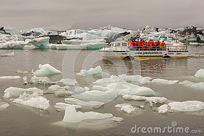 Jokulsarlon lagoon - Iceland. Editorial Stock Photo
