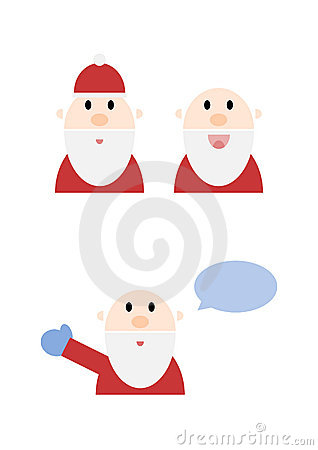 Jolly Cartoon Santa Set