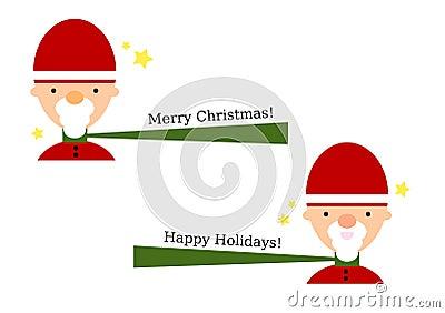 Jolly Cartoon Santa Set