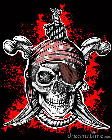 Free Jolly Roger, Pirate Symbol Royalty Free Stock Images - 21036139