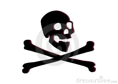 Jolly roger skull and bones