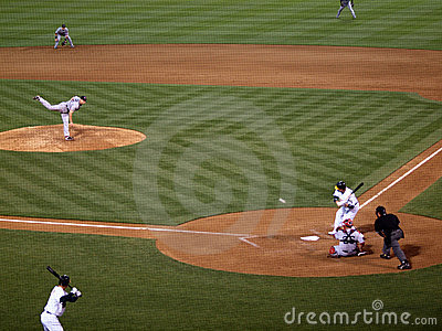 Jonathan Papelbon throws a pitch to As Jack Cust Editorial Photo