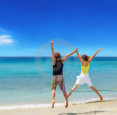 Jong paar op vakantie