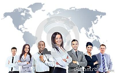 Jonge aantrekkelijke bedrijfsmensen