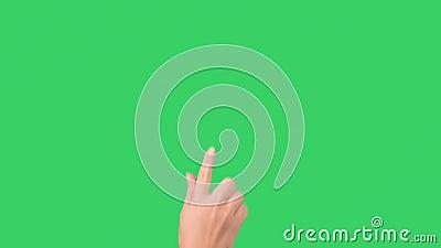 Jonge de tik en de belemmeringsgebaren van de meisjeshand voor tabletpc of smartphone stock video
