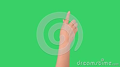 Jonge meisjeshand negen gebaren voor tabletpc of smartphone stock video