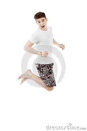 Jonge mens het springen