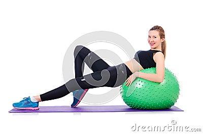 Jonge vrouw met bal