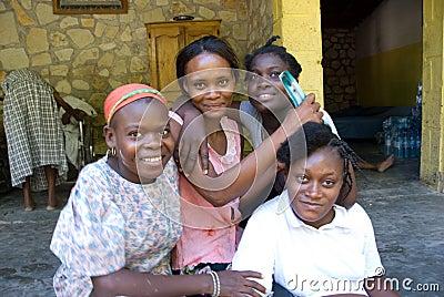 Jonge Vrouwen Redactionele Stock Foto