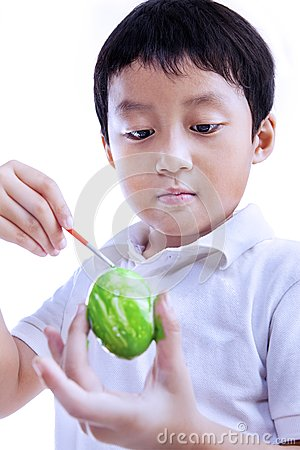 Jongen die paasei schilderen royalty vrije stock foto 39 s afbeelding 28964218 - Ruimte van de jongen kleur schilderen ...