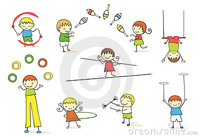Jonglierende Kinder