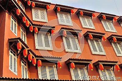 Историческая архитектура на улице Jonker