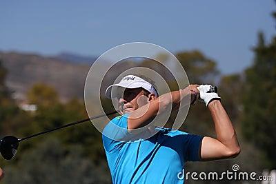 Joost Luiten at Andalucia Golf Open, Marbella Editorial Image