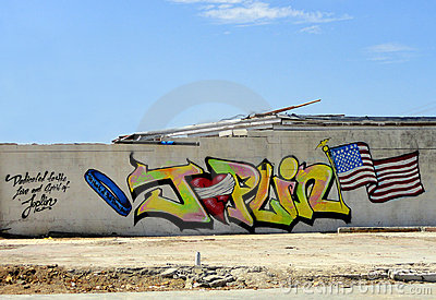 Joplin Graffiti Editorial Stock Photo