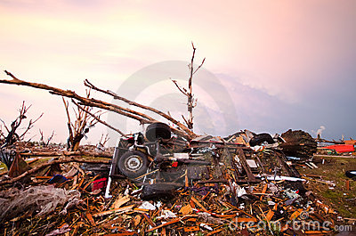Joplin (US)after the EF 5 Tornado on 22nd May 2011 Editorial Photography