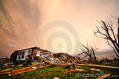 Joplin (US)after the EF 5 Tornado on 22nd May 2011 Editorial Stock Image