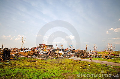 Joplin (US)after the EF 5 Tornado on 22nd May 2011 Editorial Stock Photo