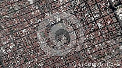 Jord zoomar in zoomen ut Ciudad de Mexico arkivfilmer