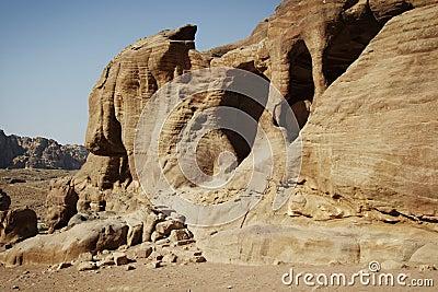 Jordan: Cave in Petra