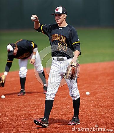 Jordan Hagel - Maryland baseball player warming up Editorial Stock Photo