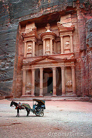 Free Jordan: Tomb In Petra Royalty Free Stock Images - 18303699