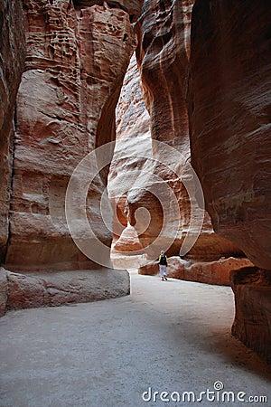 Jordan: Tourist in Petra