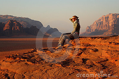 Jordan: Tourist in Wadi Rum