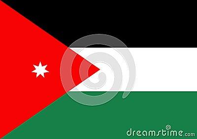 Jordanien-Markierungsfahne