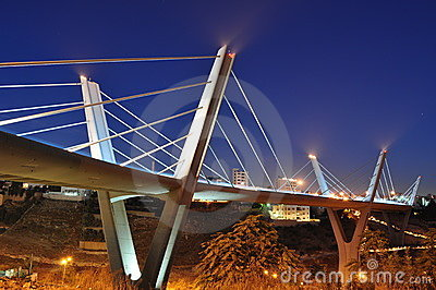Jordans biggest bridge at night