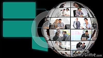 Jordklot av video för företags affär arkivfilmer