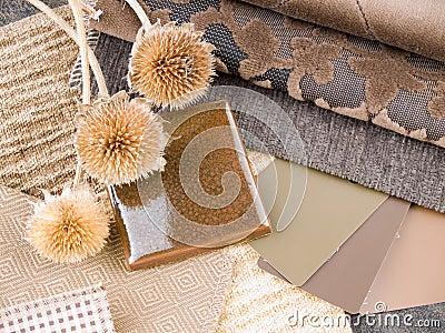Jordnärat inre plan för brownish design