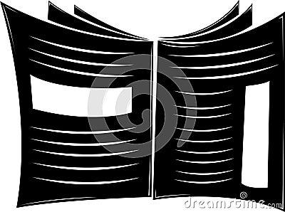Jornal preto e branco